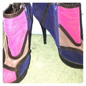Color block booties